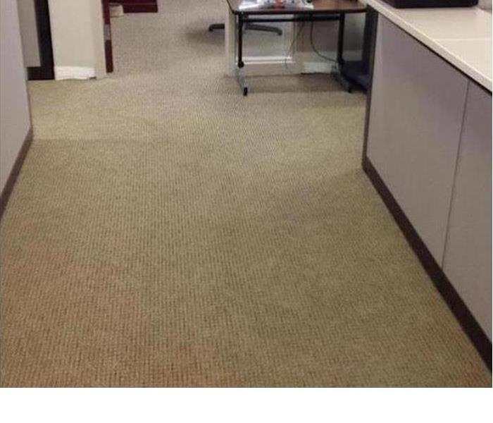 Same office floor with all water extracted and carpet dried