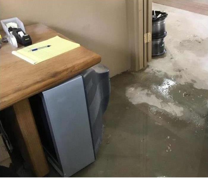 office with water on floor